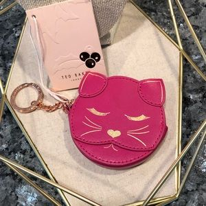 Ted Baker Cat Coin Purse In Pink - New with Tags